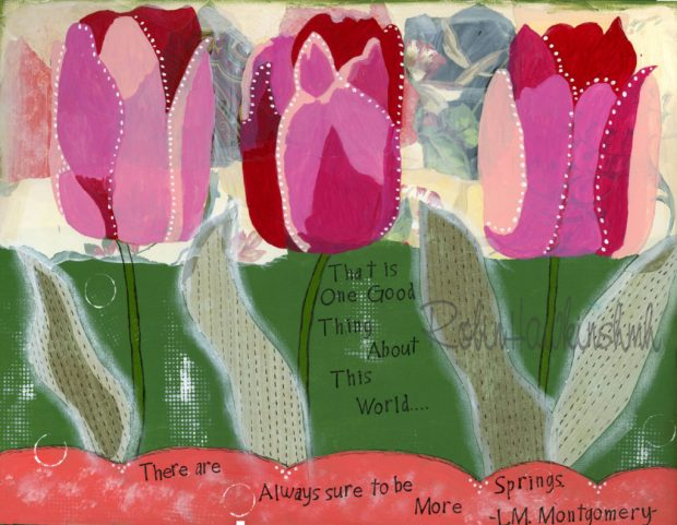 Tulips with watermark