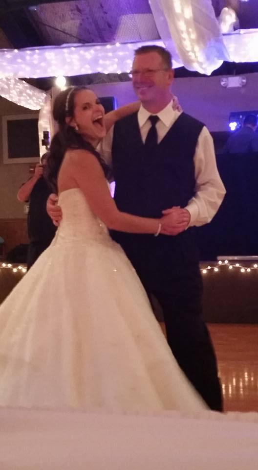 Kelli and Dad dancing