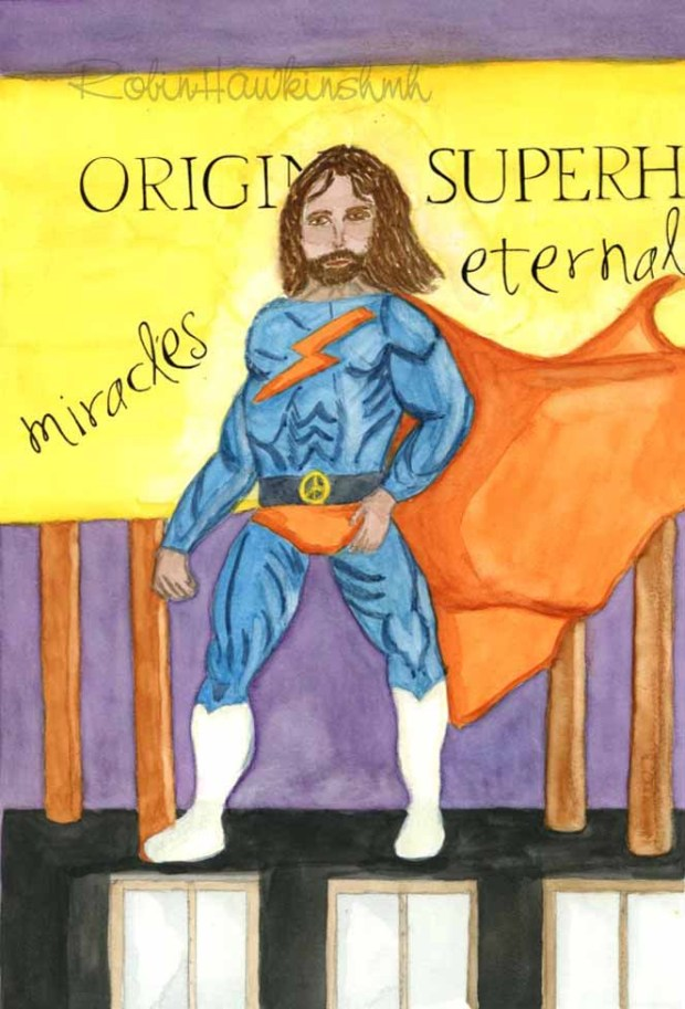 Superhero Jesus with watermark