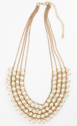 Faux Pearl Necklace - $20