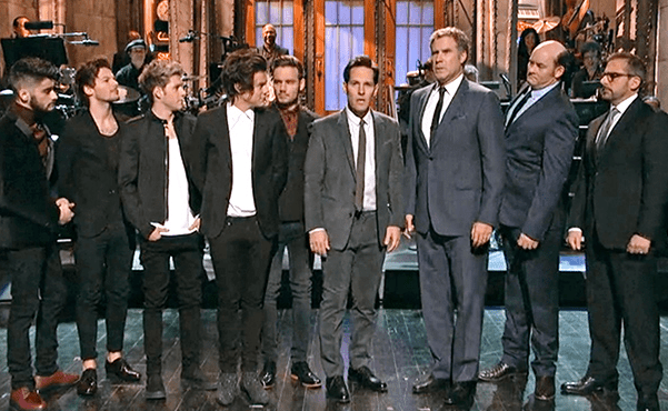 Paul Rudd, Will Ferrell, Steve Carrell and One Direction - it hurts