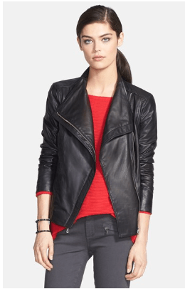 Trouve Leather Moto Jacket - $199