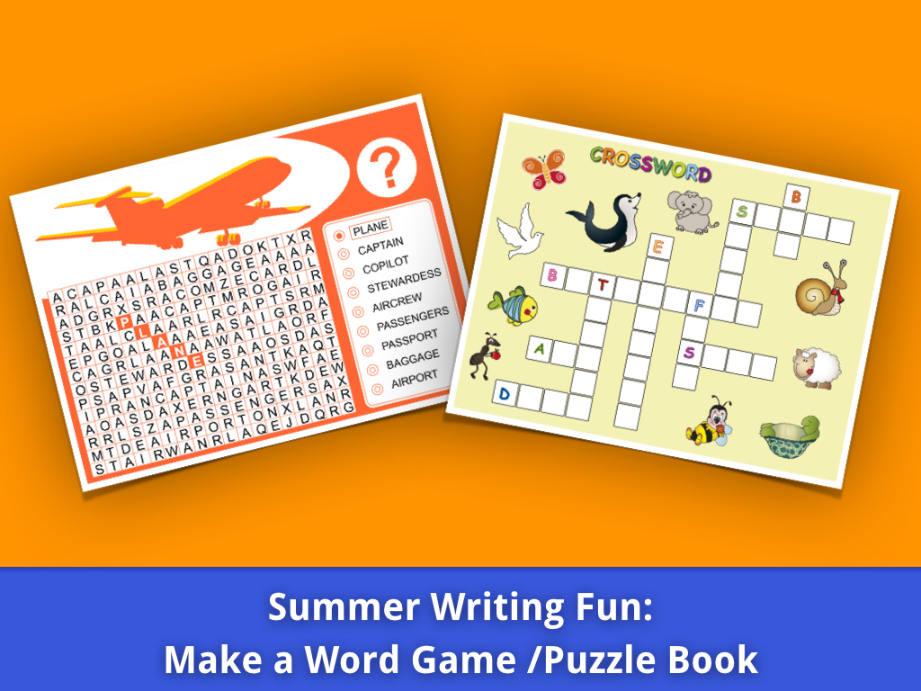 Summer Writing Fun Word Search Crossword Puzzle Book