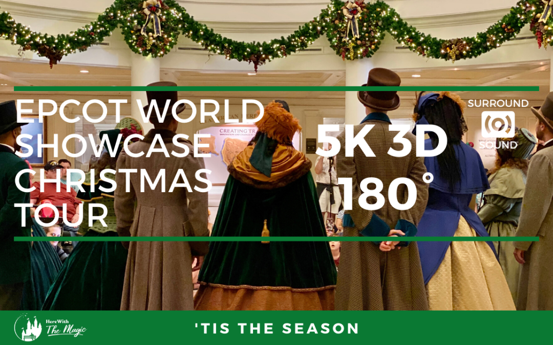 Epcot World Showcase Christmas Tour (5K 3D 180°)