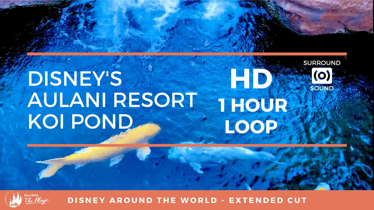 Disney's Aulani Resort Koi Pond (HD) 1 Hour Loop