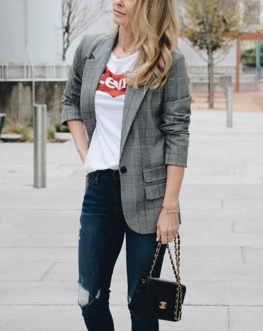 Her Fashioned Life mensware with blazer and loafers