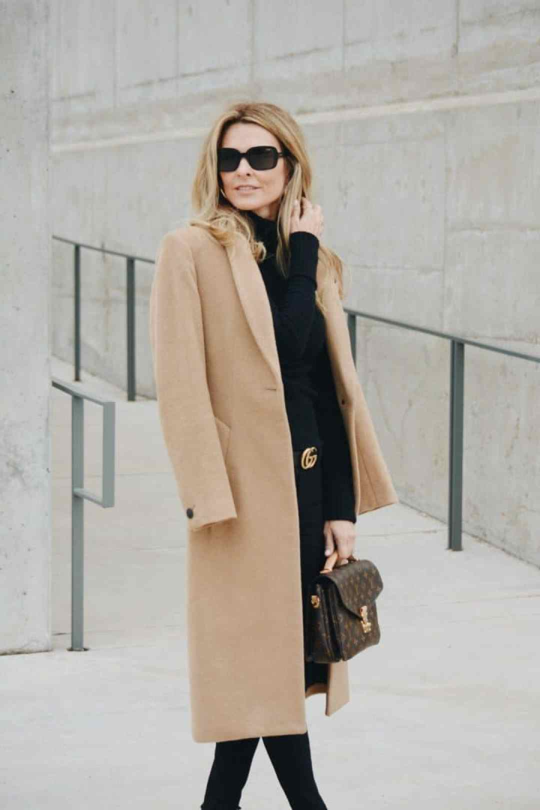 Rag & Bone Camel Coat, Gucci Belt, Louis Vuitton Bag - Style by Her Fashioned Life