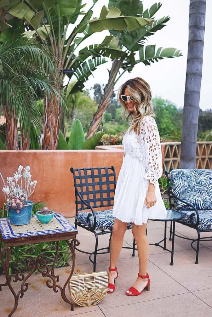 Summer White Dress With Embroidery Details