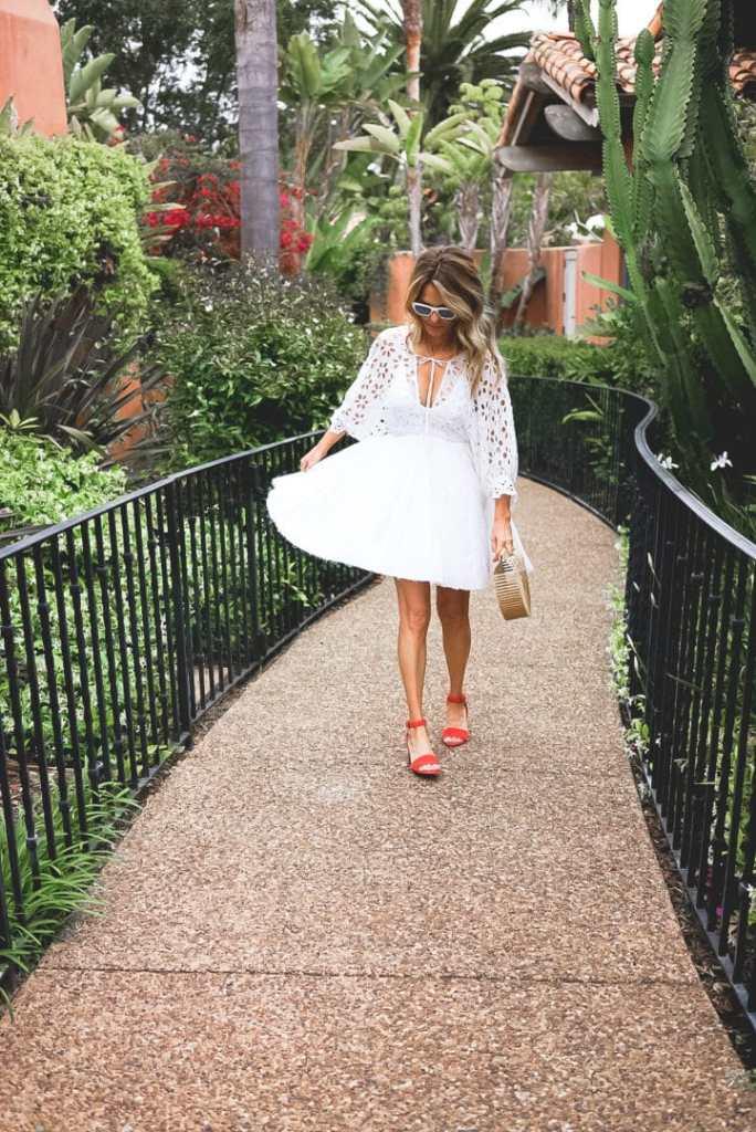 Summer Fashion in a White Dress