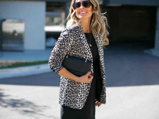 Leopard Jacket with Chloe Boots Her Fashioned Life