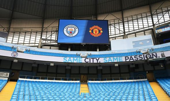 Etihad stadium, derby day. Source: Daily Express