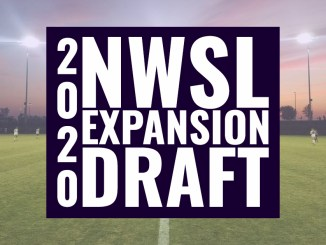 2020 NWSL Expansion Draft text over stock image of soccer field.