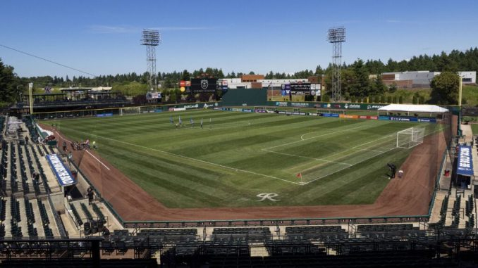 A general view of Cheney Stadium.