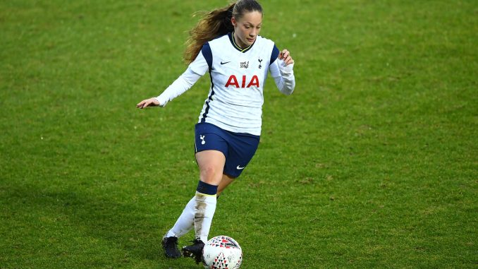 Angela Addison of Tottenham Hotspur runs with the ball.