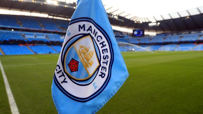 Manchester City corner flag.