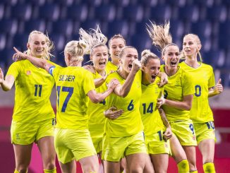 Sweden-women-celebrate-tokyo-olympics