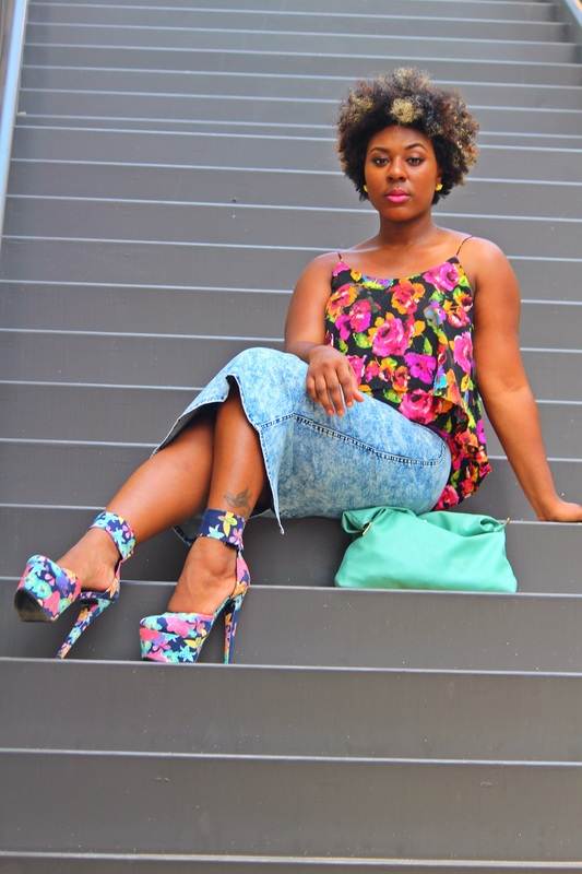 How to Mix Acid Wash & Floral Print