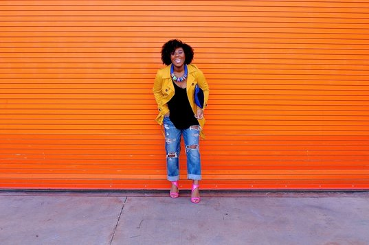 How to Style a Yellow Trench