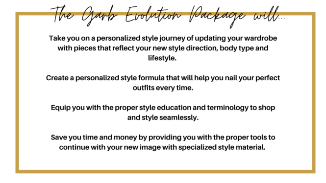 The Garb Evolution Package Will