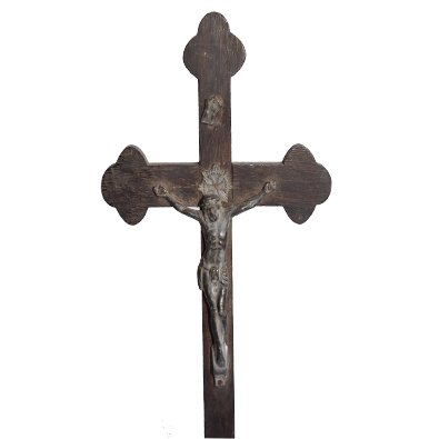 Jesus in Cross Wooden Spiritual Showpiece