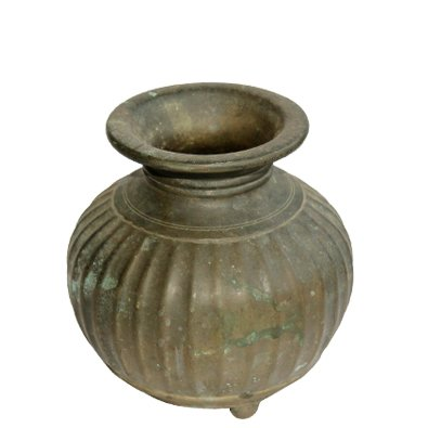 Antique Kaal Monda Bronze Pot