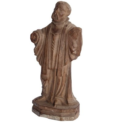St Antony Figure Antique Wooden Vintage Handicraft Small