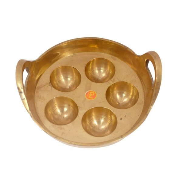 Unniyappam Making Pan Polished Brass Paniyaram Non Stick Patra