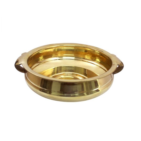 Handicraft Decorative Brass Uruli with Hand - Floating Water Pot