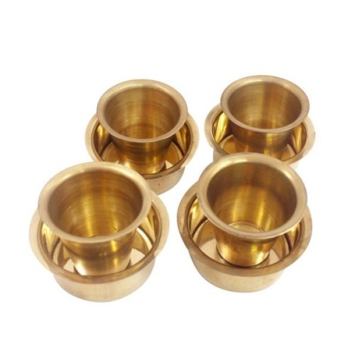Brass Coffee cup and Saucer in south Indian style