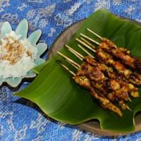 Sate Ayam Bumbu Kunir (Brochettes de Poulet au Curcuma )