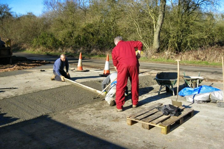 Finishing off access to Mountsorrel Station car park