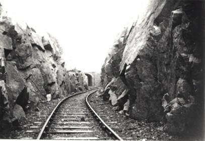 Rock cutting on the Mountsorrel Branch