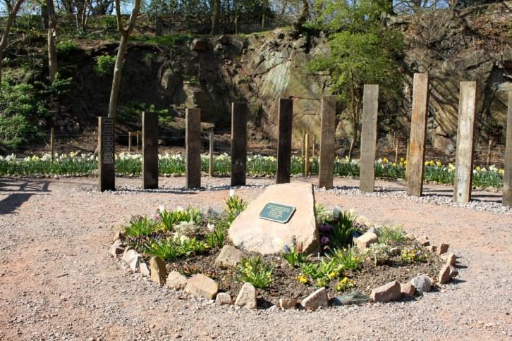 Peace Garden memorials