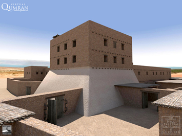 A reconstruction of the northwest tower at Qumran by Dr. Robert R. Cargill