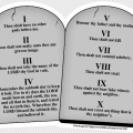 Ten commandments stone tablets refrigerator magnets