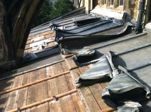 Picture 3 Lead theft damage following theft Bristol (c) Ecclesiastical
