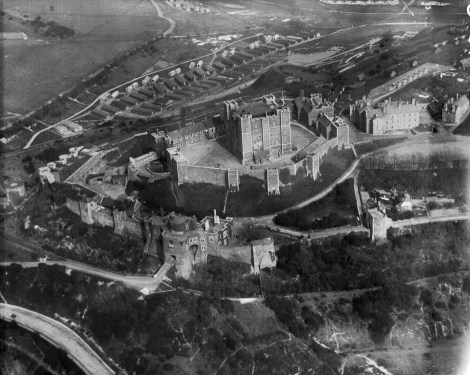 EPW000345, Dover Castle was at the centre of a Prohibited Area, over which flying and photography were forbidden, April 1920