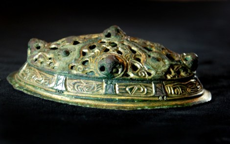 One of the oval brooches found by Peter Adams. © Oxford Archaeology Ltd