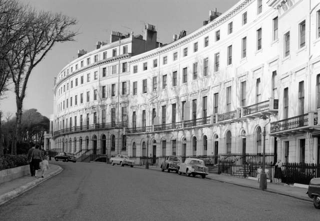 general view of adelaide terrace in hove. east sussex brighton and hove hove