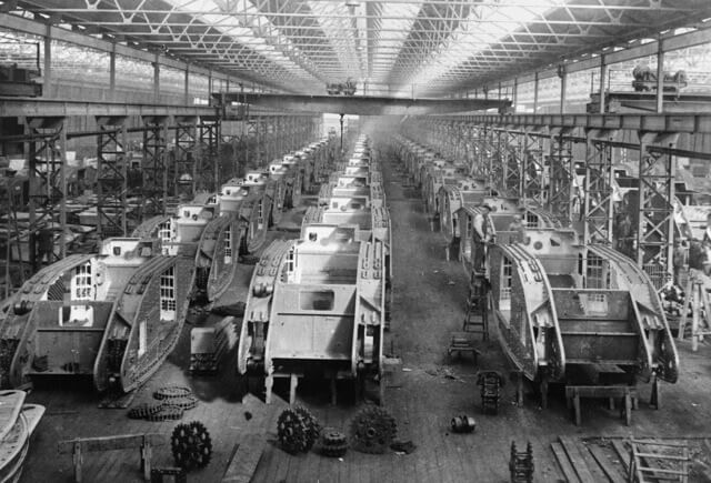 Tank Erecting Shop, Fosters of Lincoln © Imperial War Museum (IWM Q48212)