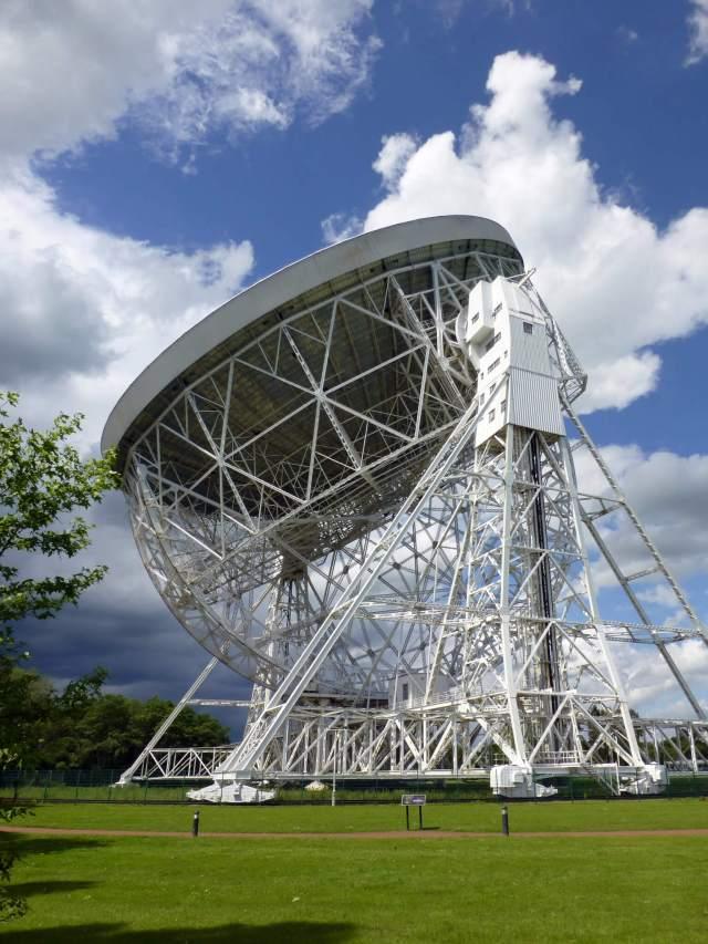 Cheshire Sir Bernard Lovell telescope rt-hand aspect