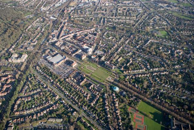 Aerial view of Letchworth