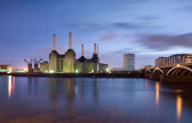 BATTERSEA POWER STATION General view from the north west, across the River Thames. (c) Historic England
