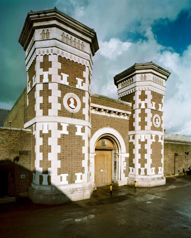 Exterior gatehouse, HMP Wormwood Scrubs, Greater London, Hammersmith and Fulham