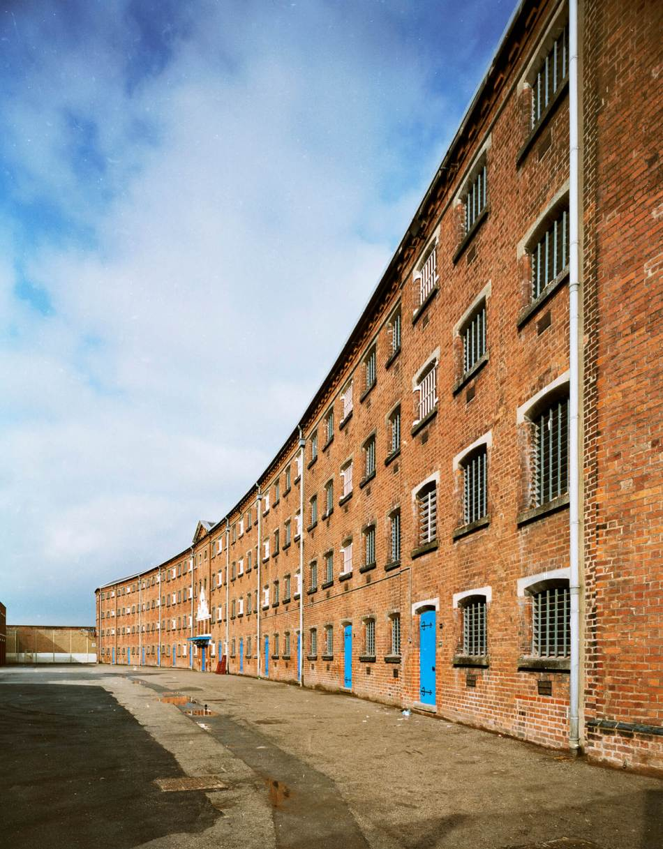 Exterior Crescent Wing, south elevation, HMP Stafford, Staffordshire