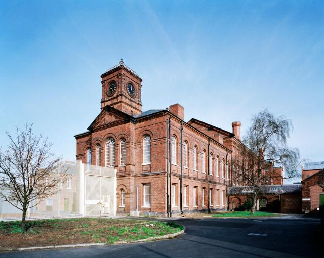 Exterior offices and chapel and B wing, HMP Nottingham, Nottinghamshire