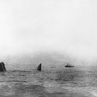 The final moments of the HMS Invincible 31 May 1916. Courtesy of the National Museum of the Royal Navy.