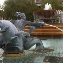 Trafalgar Square fountain (detail). © Historic England