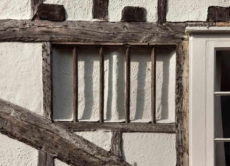 11 Strand Street, Sandwich, Kent. Detail of first floor blocked window.