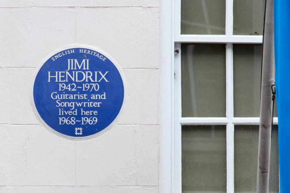 23 Brook Street,City of Westminster,London,View from north. Detail of blue plaque © Historic England Archive DP187271